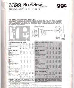 Butterick 6399 Z A 1
