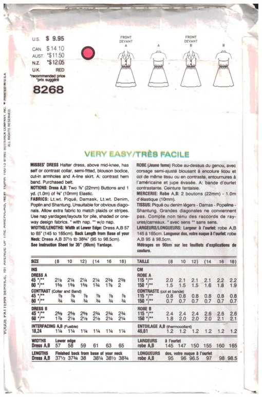 Vogue 8268 1