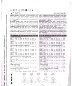 Vogue V8124 A 1