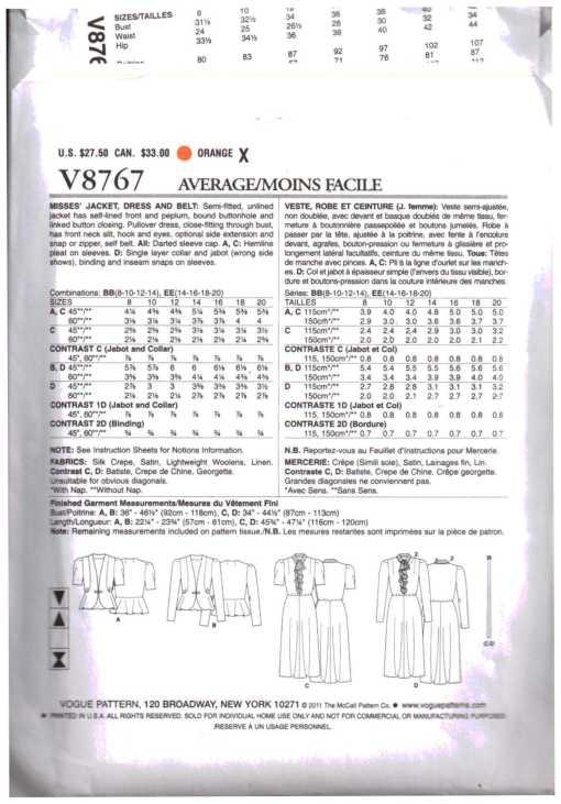 Vogue V8767 1