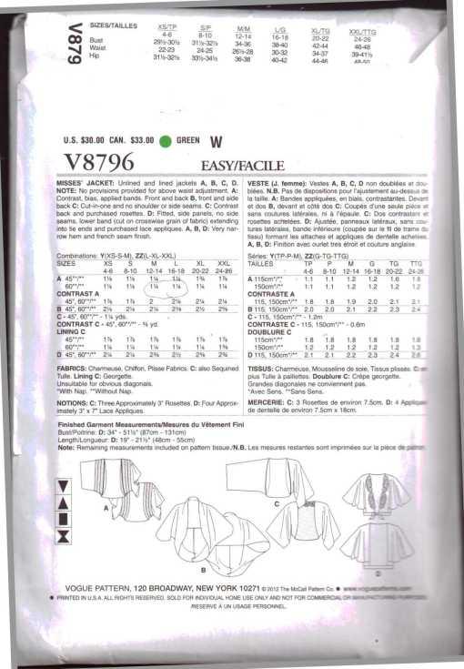 Vogue V8796 1