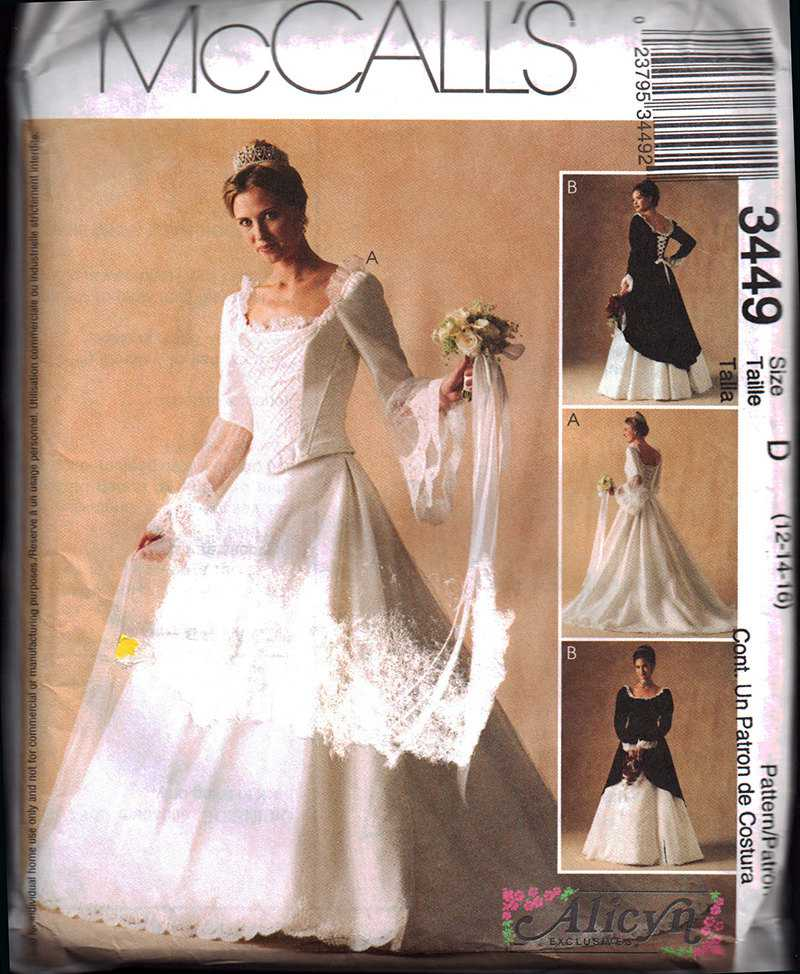 McCall\'s 3449 Wedding Dress, Bridesmaid Dress Size: A 6-8-10 Uncut ...