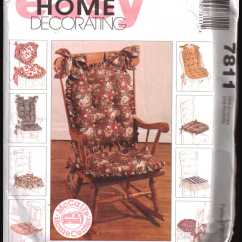 Sewing Patterns For Chair Cushions Childrens Chairs Walmart Mccall S 7811 Size One Uncut Pattern The Product Is Already In Wishlist Browse