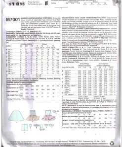 McCalls M7001 M 1