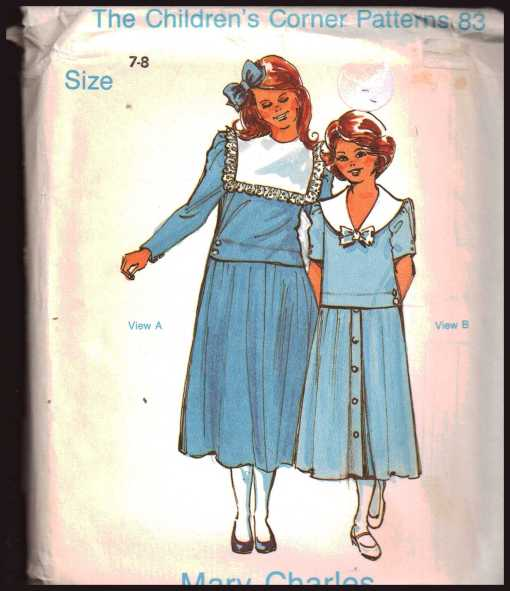 The Children's Corner Patterns 40 Mary Charles Size 4040 Uncut Adorable Childrens Corner Patterns