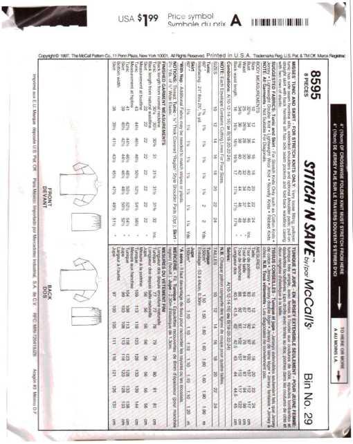 McCalls 8595 J 1