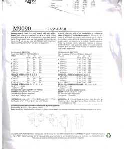 McCalls M9090 J 1