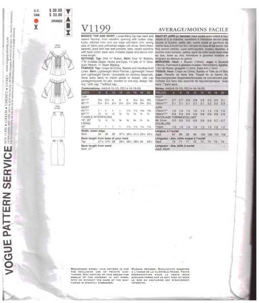 Vogue V1199 A 1