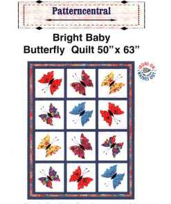 Patterncentral Bright Baby Butterfly Quilt