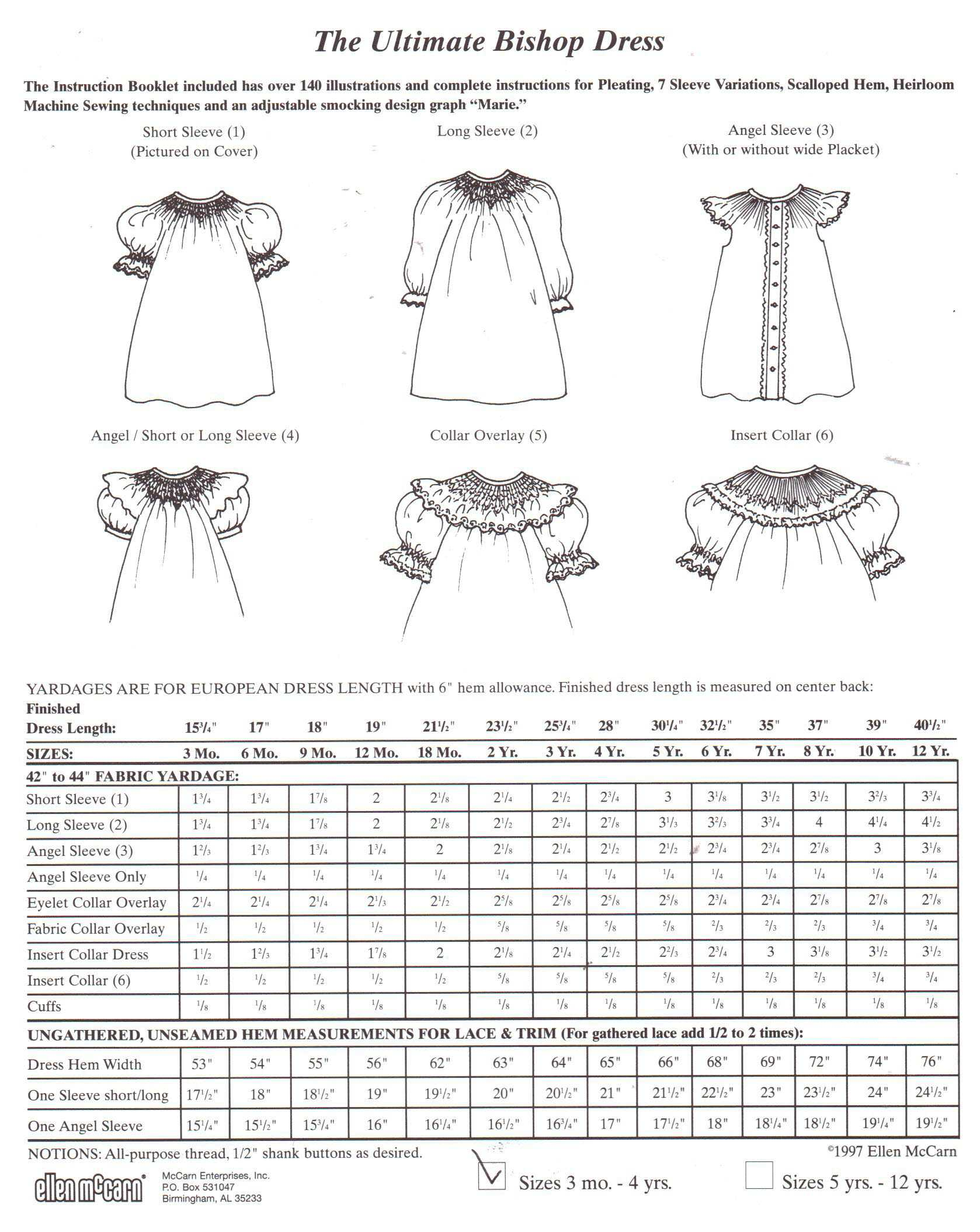 New look 6171 children's dresses size: a 1/2,1,2,3,4 uncut sewing.