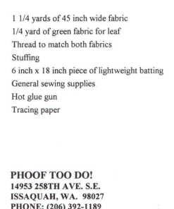 Phoof Too Do 101 N 1