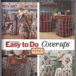 Butterick 3104 Chair Covers Size One Uncut Sewing Pattern