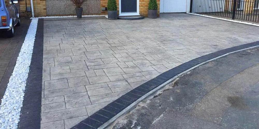 decorative pattern imprinted concrete