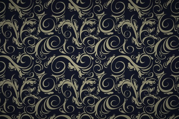 Free Curly Whirly Spiral Damask Wallpaper Patterns