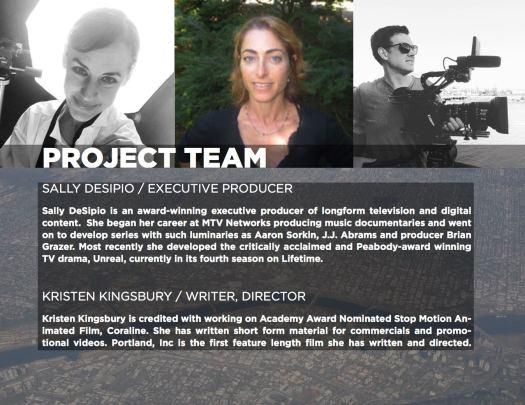 Portland Inc Pitch Deck Portland Video Production Oregon Film Documentary filmmaking Pippin Beard Kristen Kingsbury
