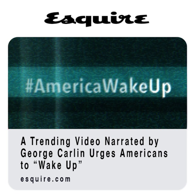 """Pattern Integrity Films """"America Wake Up"""" with George Carlin featured in Fast Company Magazine."""