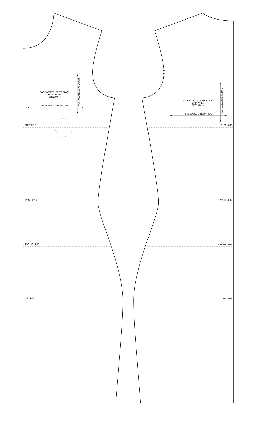medium resolution of Basic Sewing Patterns and Slopers To Fit Your Measuremnts - PatternLab