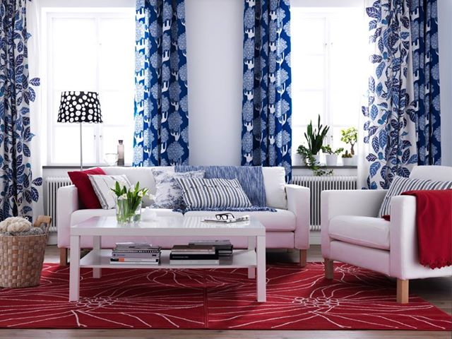 Red White  Blue Decor  Nidhi Saxenas blog about Patterns Colors and Designs