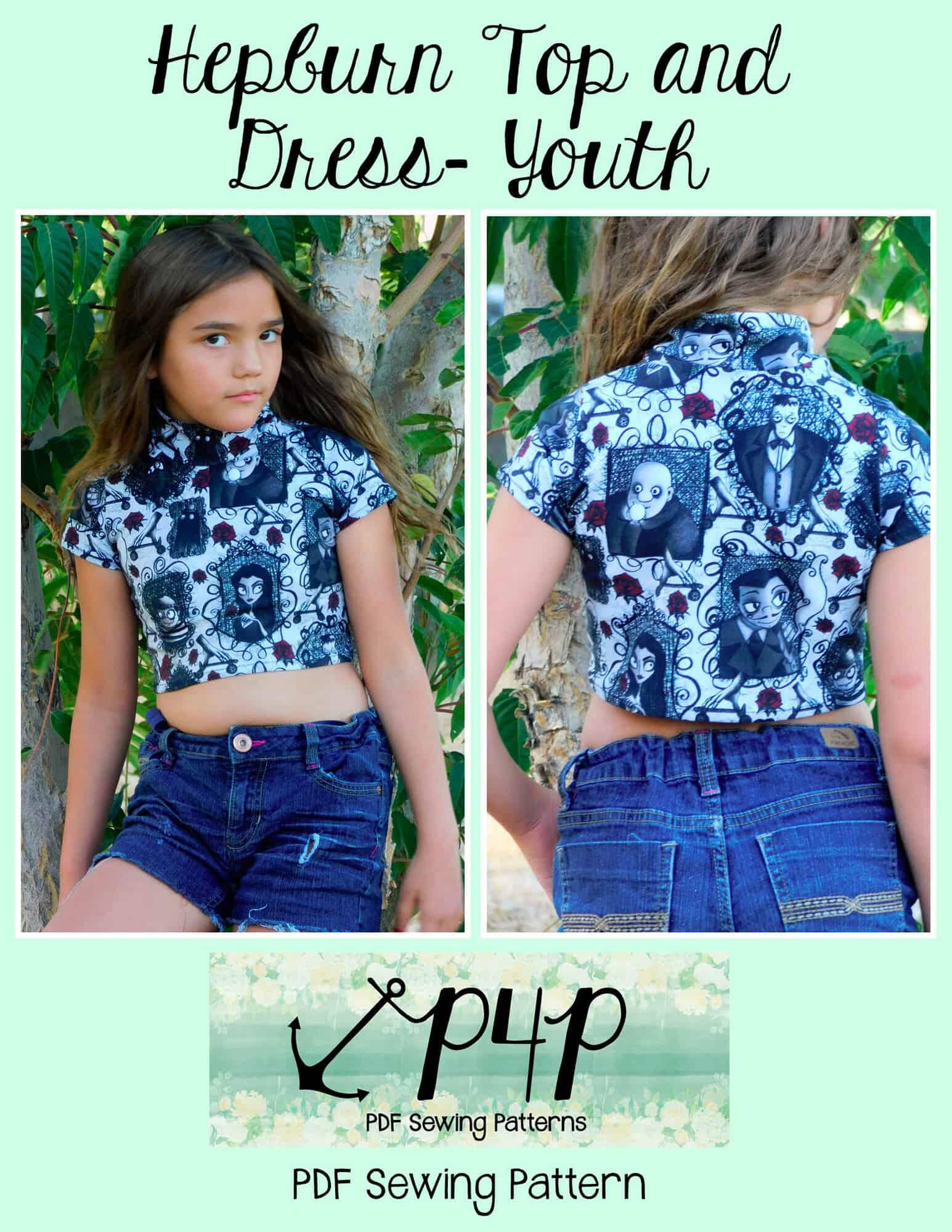 Pattern Crop Top : pattern, Hepburn-, Youth, Patterns, Pirates