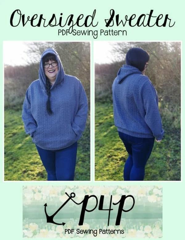 Oversized Hood Pattern : oversized, pattern, Oversized, Sweater, Patterns, Pirates