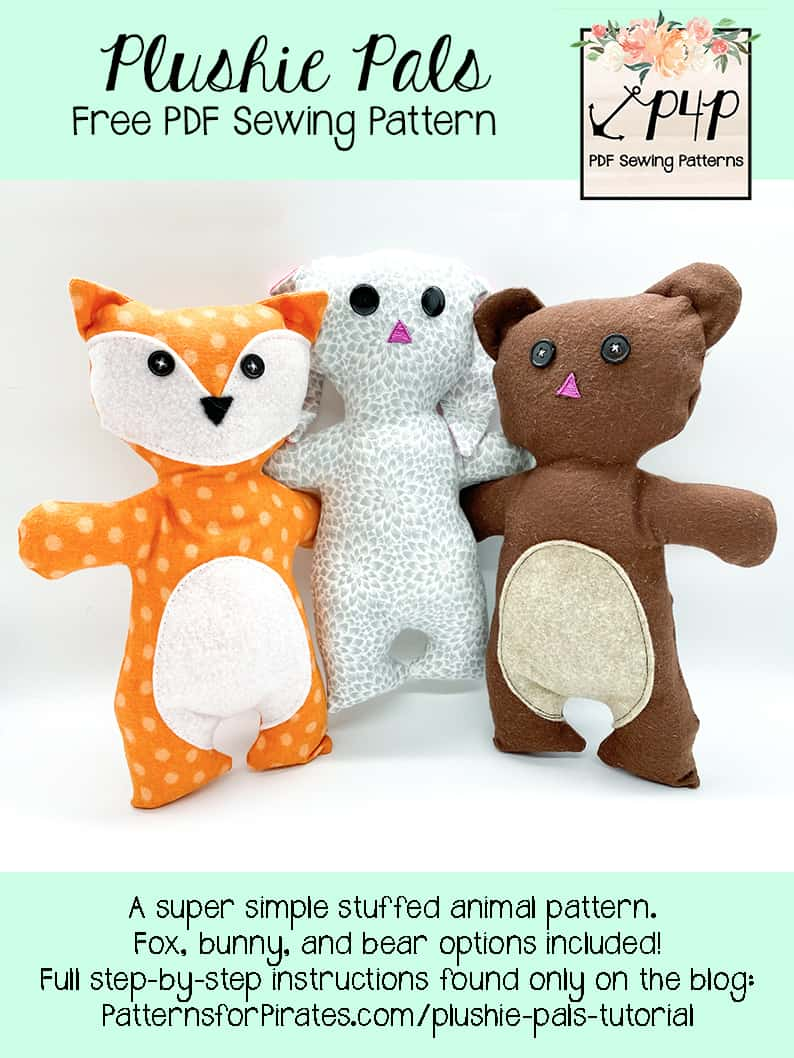 Stuffed Animal Pattern Free : stuffed, animal, pattern, Plushie, Patterns, Pirates