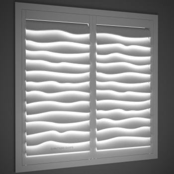 © PATTERN SHAPE | SCULPTURAL SHUTTERS - WAVE - LIGHTS OFF - ANGLED
