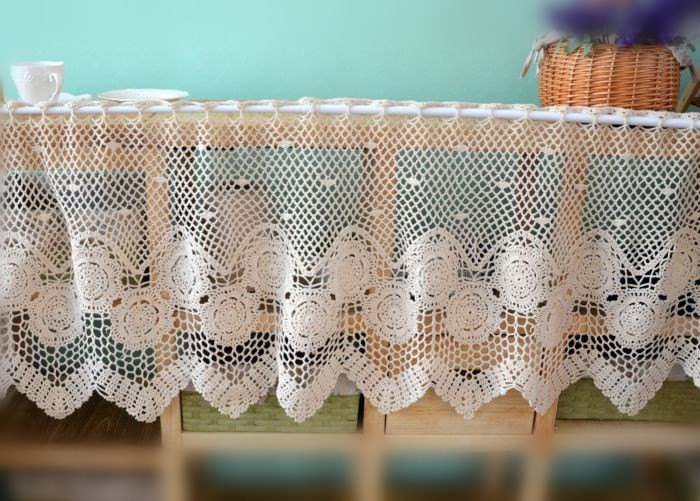 Simple Knit Lace Curtain Patterns