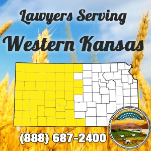 Western KS Car Accident Lawyer Map