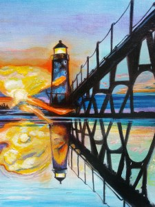 lighthouse painting manistee michigan new lighthouse painting lighthouse art