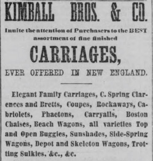 Carriage ad