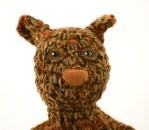 head squirrel brown orange crochet