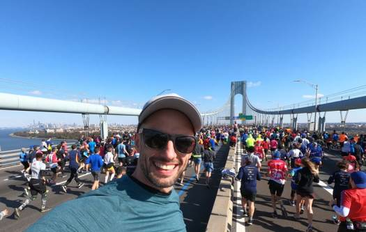 Das Highlight des New York City Marathon die Verrazano Bridge