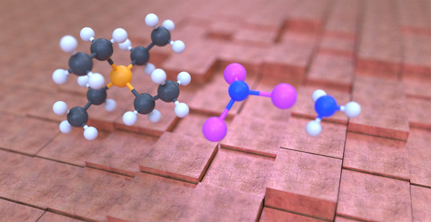 Style option for scientific animation about producing ammonia.