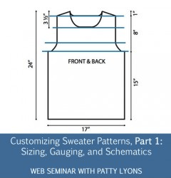 Customizing Sweater Patterns pt 1: Sizing, Gauge, and Schematics