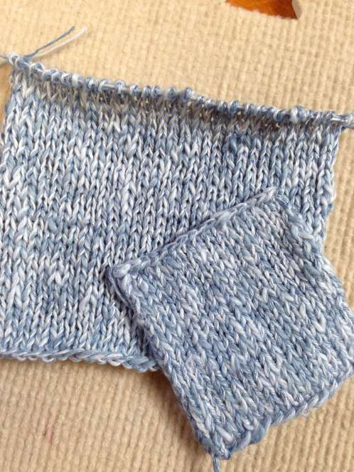 Preblocked swatch