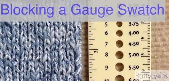 How to Block Your Gauge Swatch
