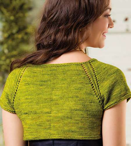 Entwined Shrug - Creative Knitting Just in Time Knits Spring Knitting Patterns