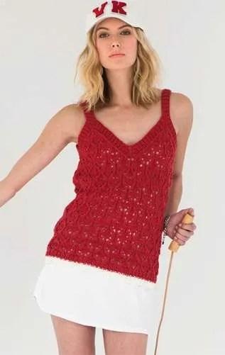 Tank Top - Vogue Spring / Summer 2015 Spring Knitting Patterns