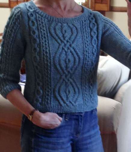 Finished VK cable sweater