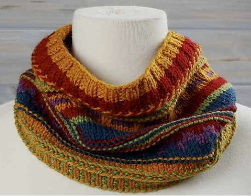 Seriously Sassy Stripes Cowl