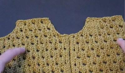 Double YO lace