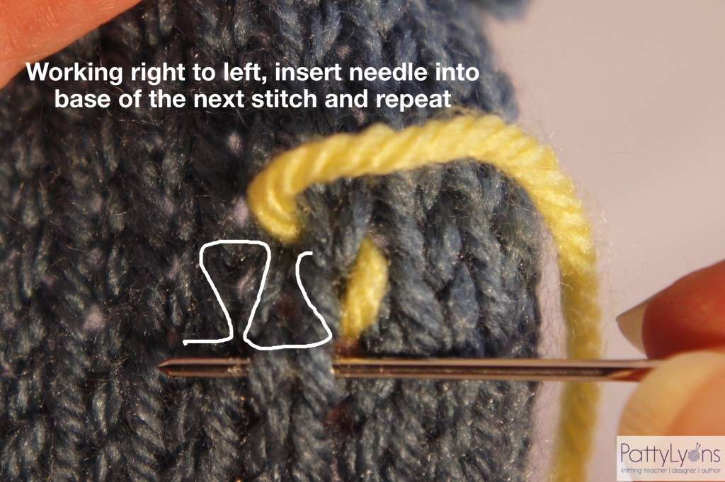 Swiss Darning Duplicate Stitch