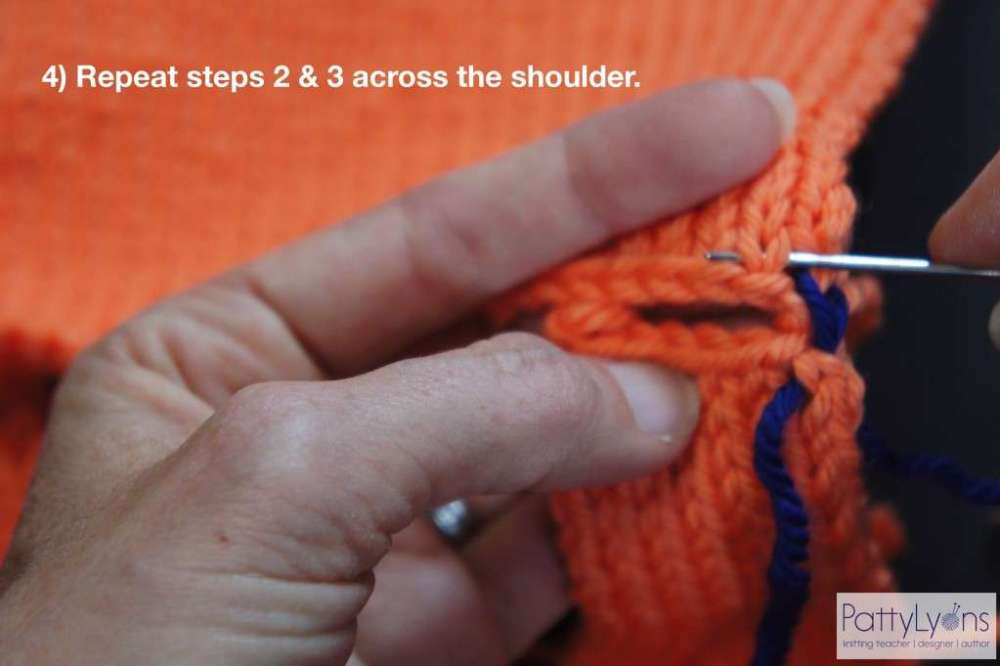 Seaming Shoulder in Knitting - Joining