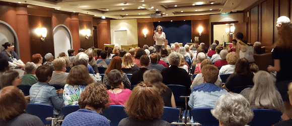 What do over 100 knitters on a cruise look like?