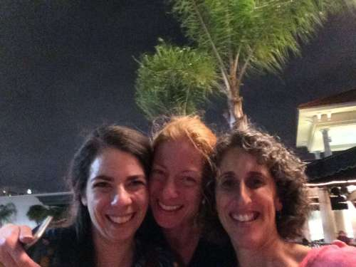 Melissa Leapman, Laura Nelkin and I. Night before the cruise