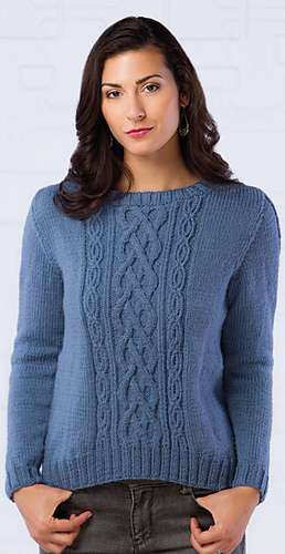 Diverging Paths Pullover from Creative Knitting, Winter 2015