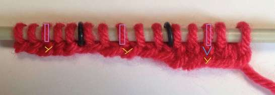 2) Purl one row