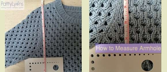 Tuesday Tip How To Measure Armhole Depth Patty Lyons Knitting
