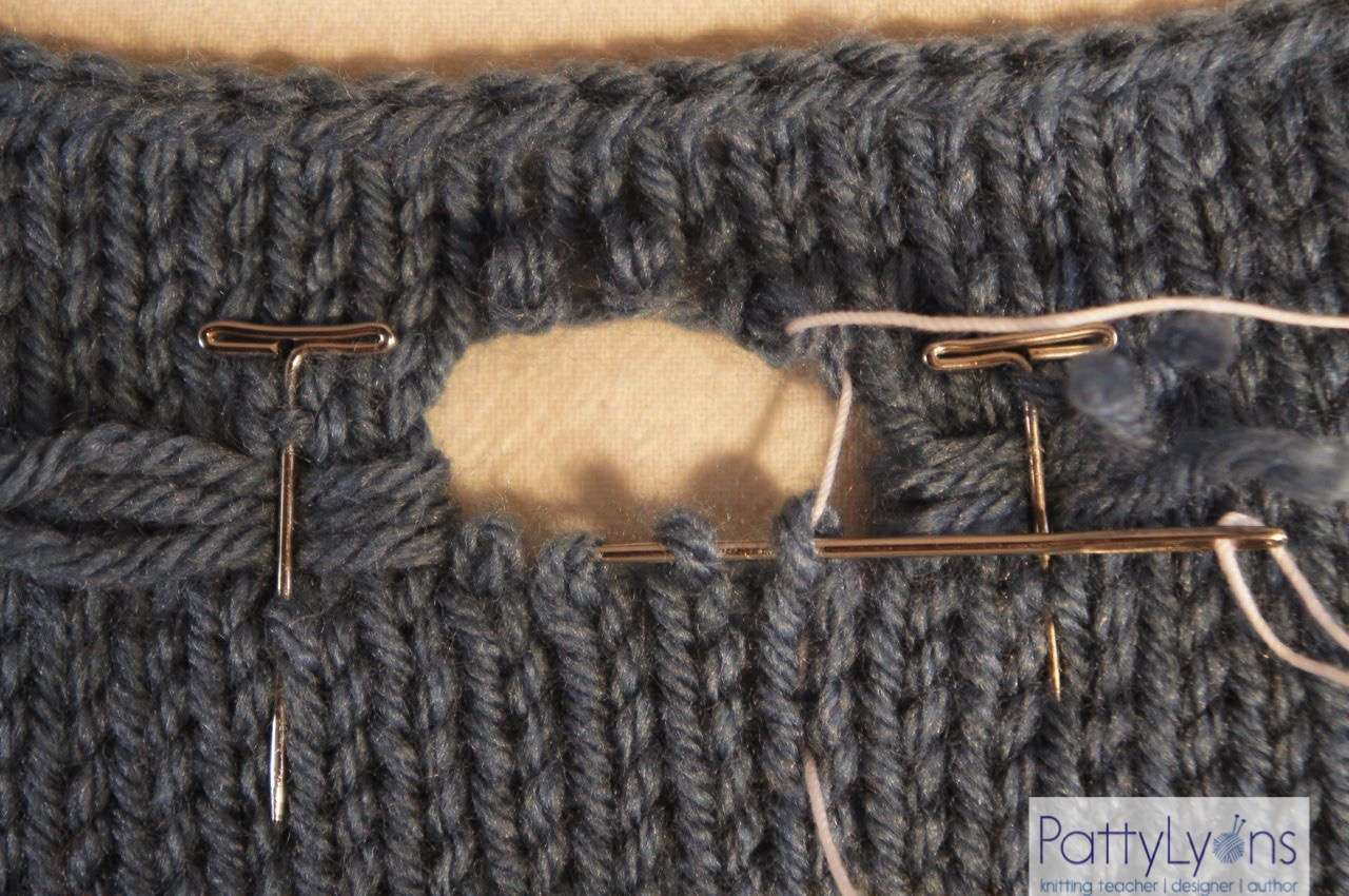 Tuesday Tip How to Fix a Hole In Your Knitting | Patty