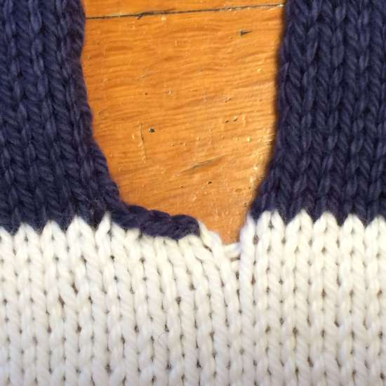 How to close the gap in knitting